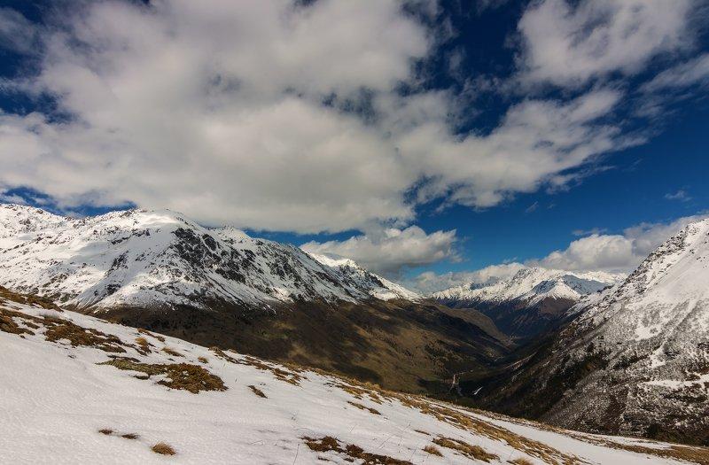 горы, облака, кавказ белые птицы...photo preview
