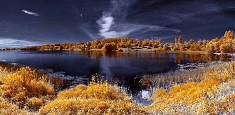 infrared,ик-фото,инфракрасное фото, инфракрасная фотография, пейзаж, лето, беларусь До свидания, лето!photo preview