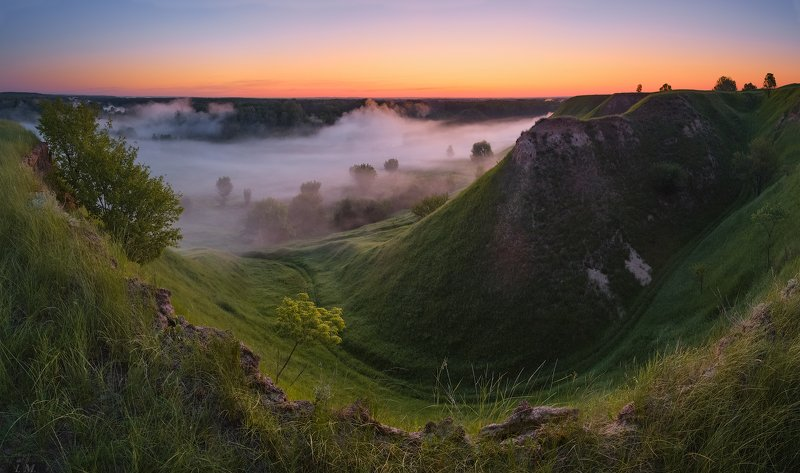 туман, тишина, предрассвет, лето, утро, панорама, долина реки, холмы, пейзаж, fog, twilight, dawn, silence, morning, summer, sky, trees, colors, green, landscape, countryside, valley, river, psel, panorama, hills, nature, ukraine ***photo preview