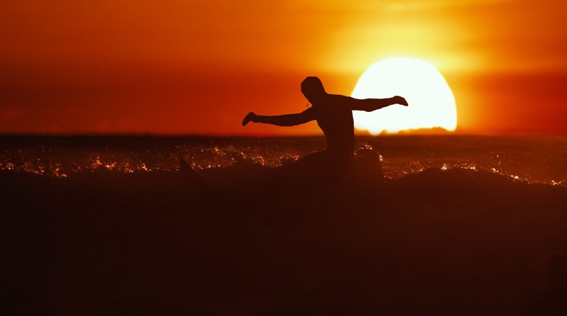 surfing sochi sunset nature sea waves Sochi sunset.photo preview