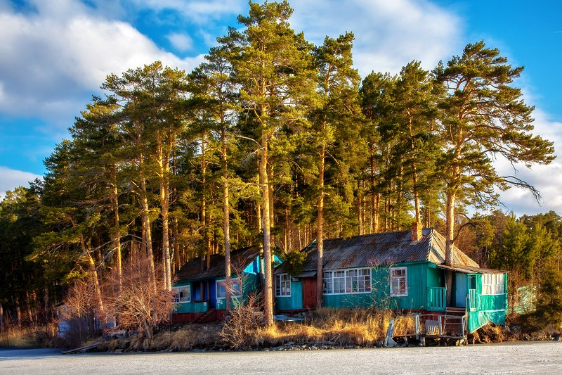 озеро тургояк, южный урал, Апрельphoto preview