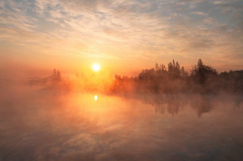 псков Рассвет в тумане.photo preview