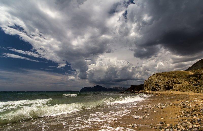пейзаж, море, черное, крым, шторм, непогода, туча Надвигается...photo preview