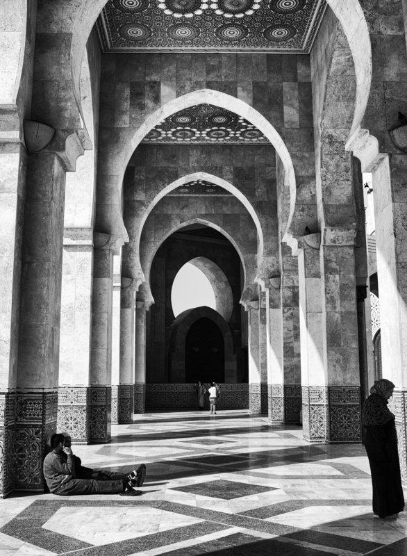 Morocco, Casablanca, Monochrome, Black and white, Street In Casablancaphoto preview