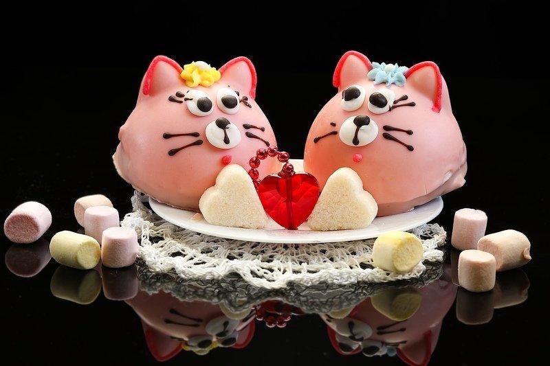 натюрморт, пряник, котик, сладости, сахар Пряничные котикиphoto preview