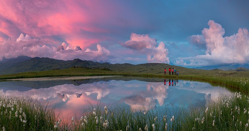 камчатка, пейзаж, лето, рассвет, пейзаж, природа, путешествие, фототур, озеро Ловцы светаphoto preview