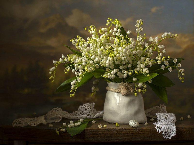 натюрморт с ландышами,весна,букет,цветы,художественное фото,искусство. Воробьиное яйцо.photo preview