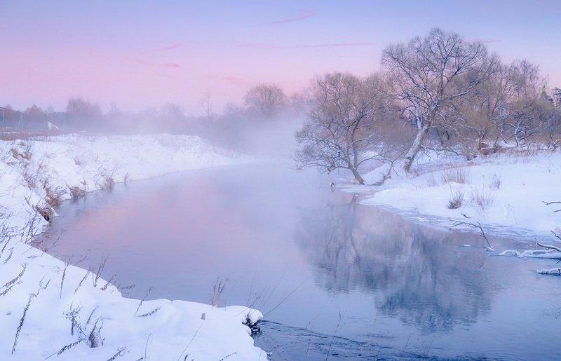 зима, река, вечер, закат После закатаphoto preview