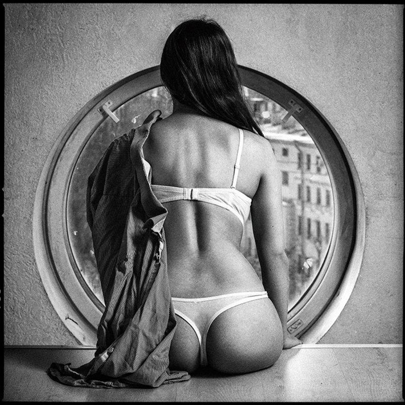 девушка, черно белое фото, портрет М а ш аphoto preview