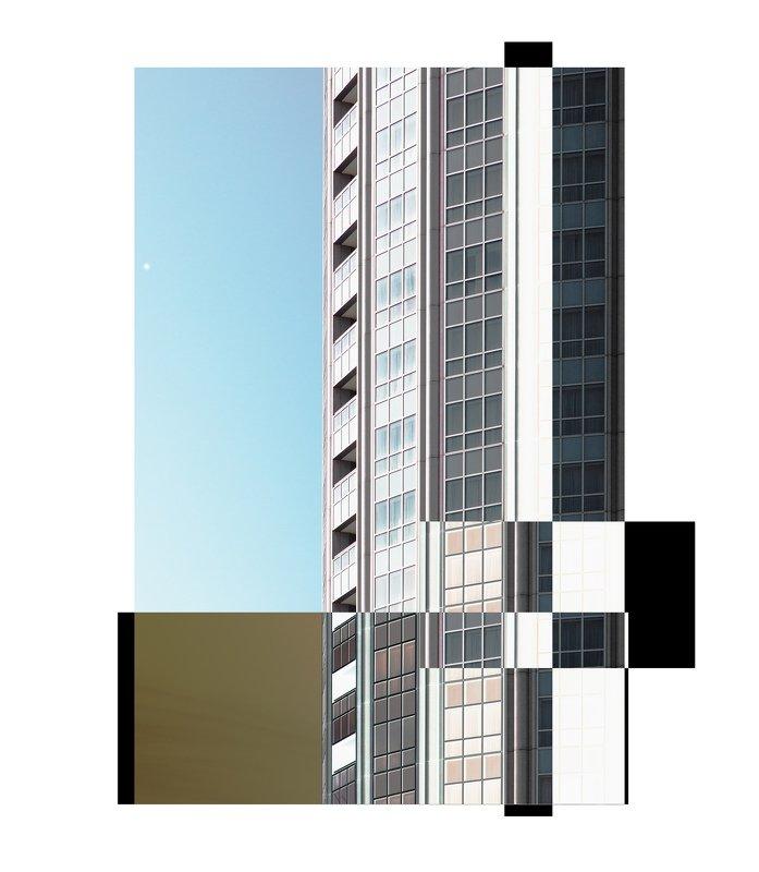 инверсия, квадрат, здания, небо, минимализм Геометрия.photo preview