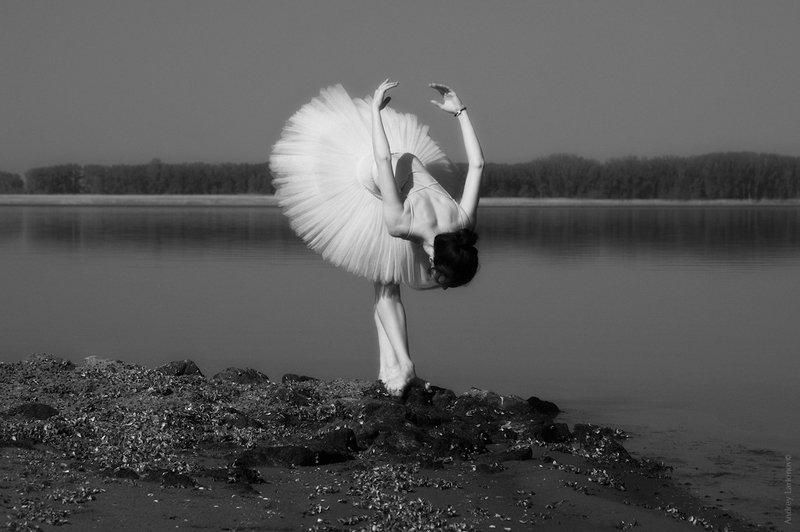 балерина, река, пейзаж, андрейларионов Белый лебедьphoto preview
