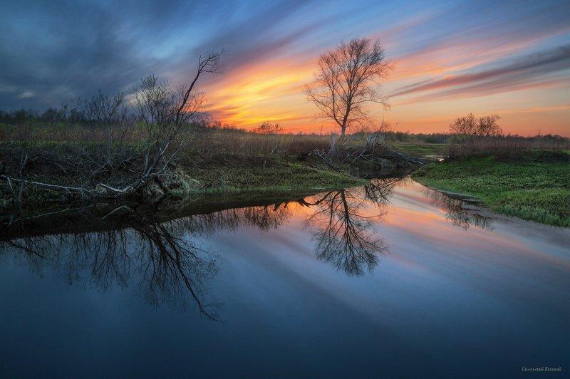 май, вечер, закат, озеро, весна Майский вечерphoto preview