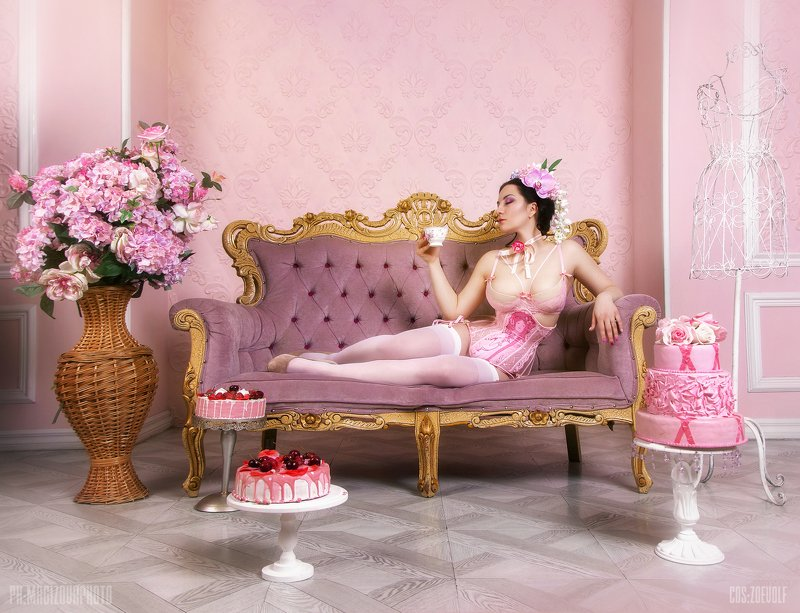 девушка, girl, erotic,pink,lingerie,makeup Pinkphoto preview