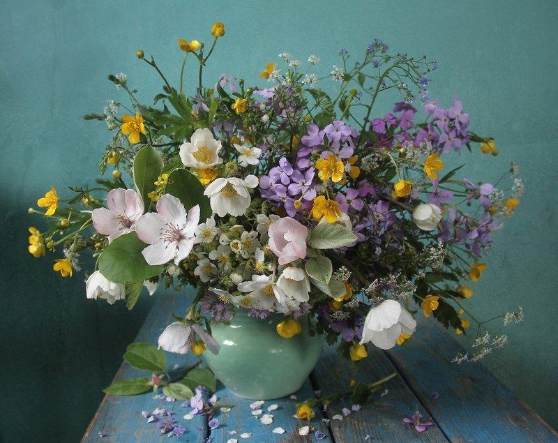 весна, натюрморт, букет цветов, весенние цветы, марина филатова ***photo preview