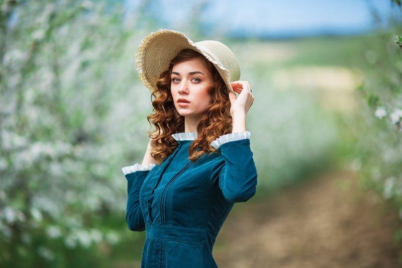 Яблоки, модель, девушка, лето Настяphoto preview