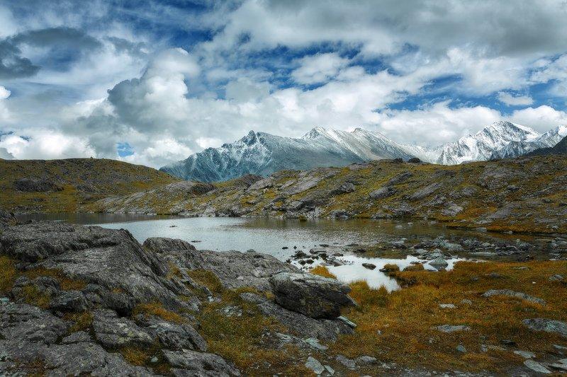 горы, облака, природа, алтай, рассвет, река, путешествие, россия, озеро Долина семи озер, Алтайphoto preview