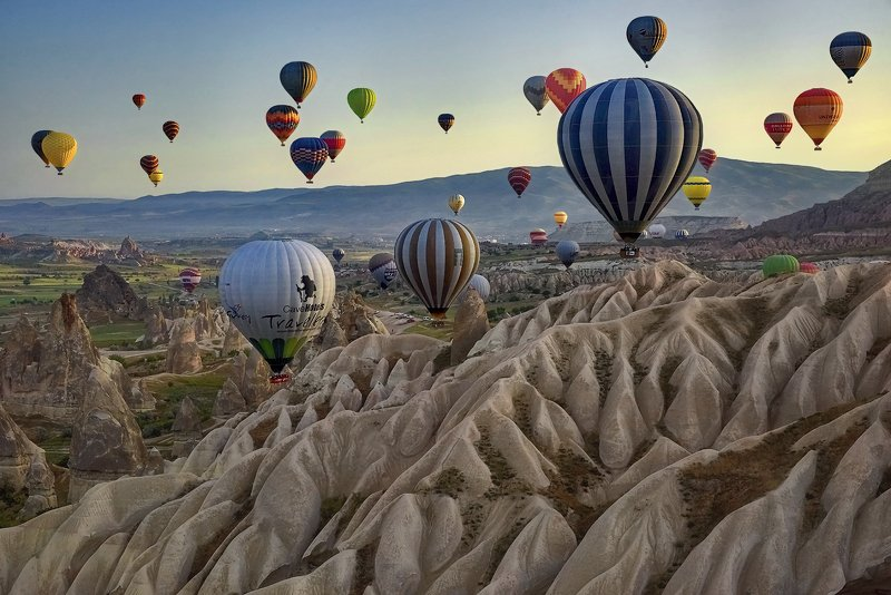 cappadocia, turkey, mountains, travel, landscape Over the mountains of Cappadociaphoto preview