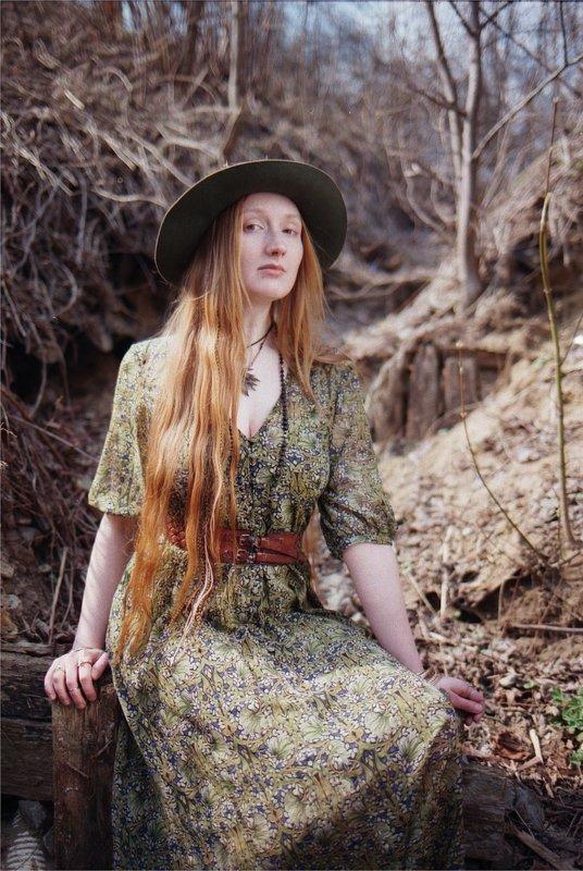 fashion, деревья, рыжая, бохо шик, плёнка ***photo preview