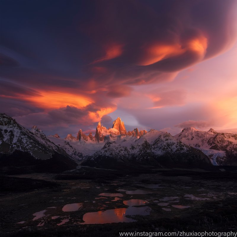 пейзаж, патагония Облака в Патагонииphoto preview