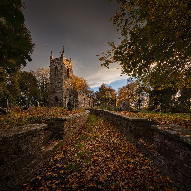 ireland, abandoned church, graveyard ***photo preview
