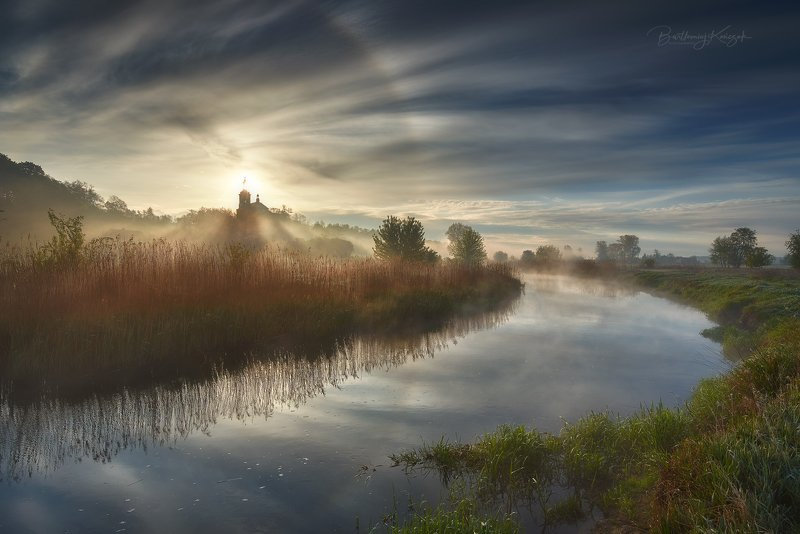 morning, fog, poland,  nature, landscapes, river, halo Hope of Morningphoto preview
