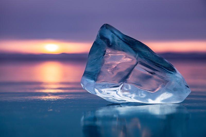 лед, байкал, ольхон, пейзаж, зима, рассвет, закат, льдина, сибирь, иркутск, озеро Байкальский ледphoto preview