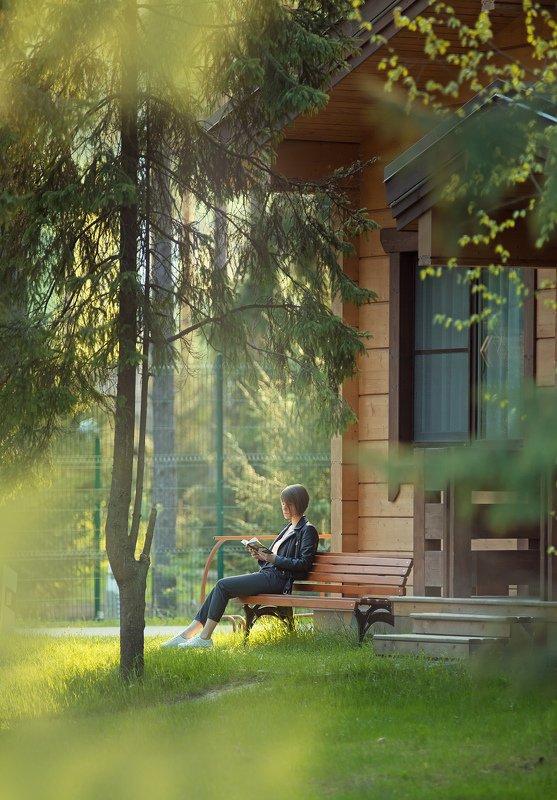 лето, чтение,лес,парк, солнце,скамейка,книга Ксюшаphoto preview