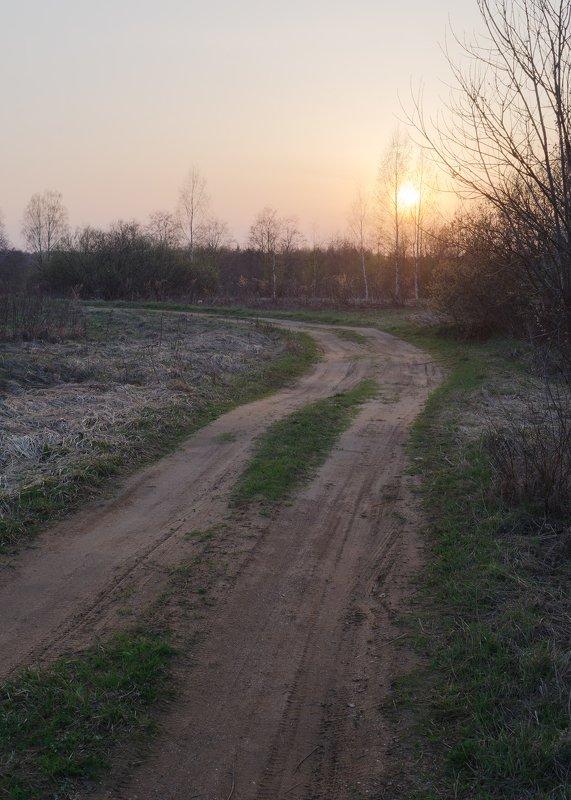 закат, дорога Стынь.photo preview