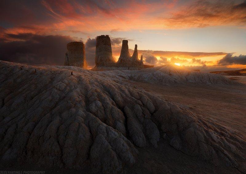 landscape, travel, nature, sunset, china, landform, art, dusk, Jurassic Agephoto preview