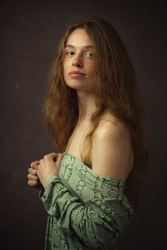 female, portrait, mood, sensuality, british, woman, dark, adult, face, people, one, person, look, retro, classic, tenderness, dream, redhead, Маринкаphoto preview