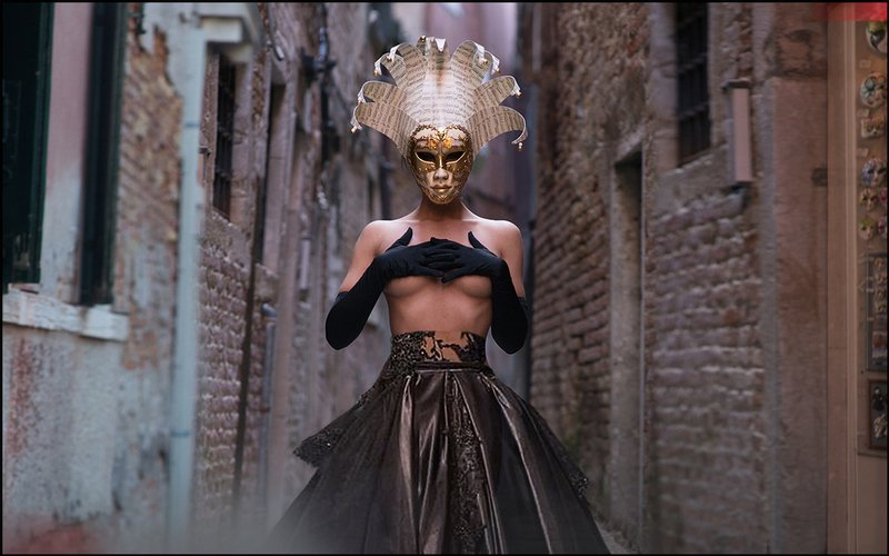 lucastudio, nude Masks of Venice ©photo preview
