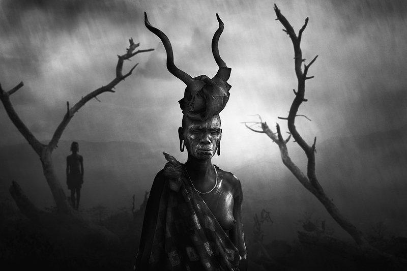 ethiopia, tribe, hamer, boy, arbore, girl, mursi, Woman Mursiphoto preview