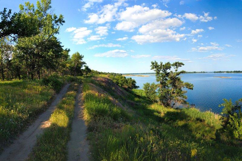 весна,вечер,дорога,зелень,деревья,пейзаж,природа Хороший деньphoto preview