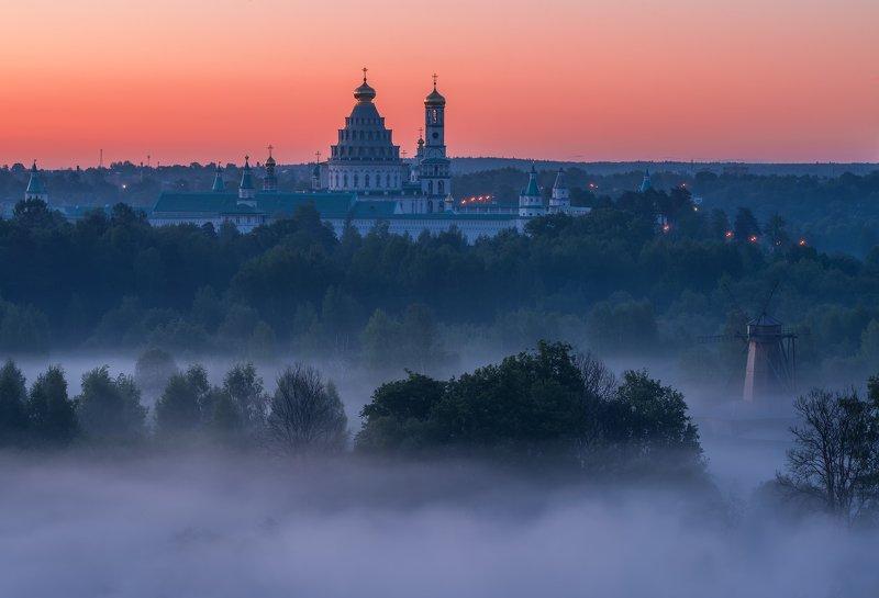 утро, рассвет, природа, туман, река, истра, новый иерусалим Пол часа до рассветаphoto preview