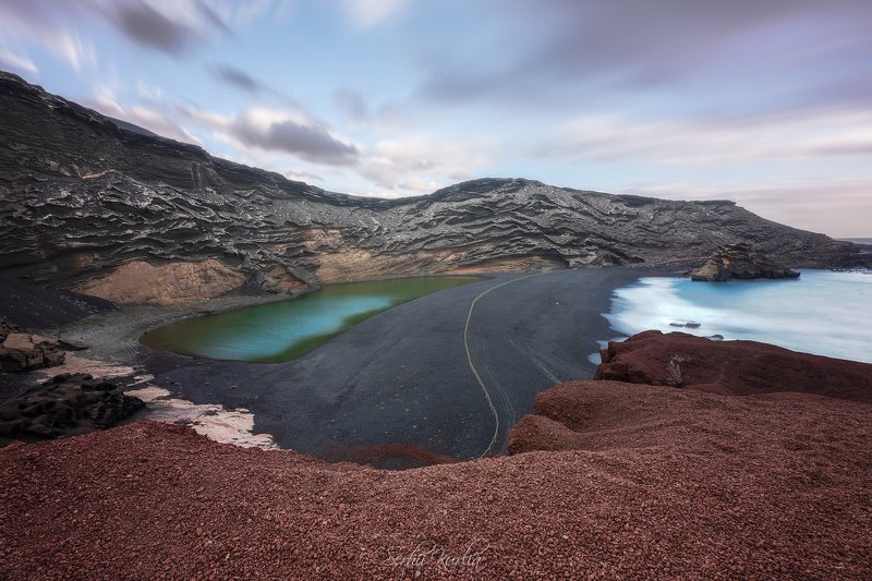 lanzarote, long exposure, canary islands, coastline, volcanic El Golfophoto preview