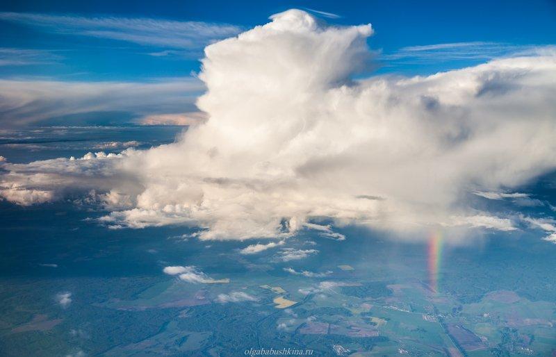 облака, радуга, дождь Парящие замкиphoto preview