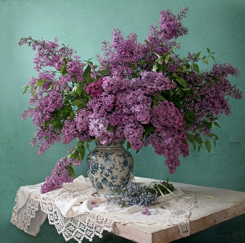 весна, натюрморт, букет цветов, сирень, букет сирени, марина филатова Сиреневый майphoto preview