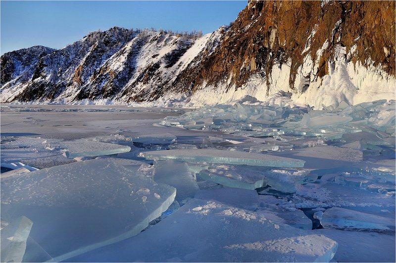зима, февраль, озеро байкал, снег, лёд, льдины, Б/Н.photo preview