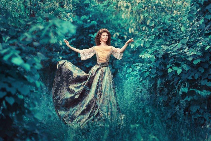 арт, художественный, сказочный, цвет, картина, девушка, барокко ***photo preview