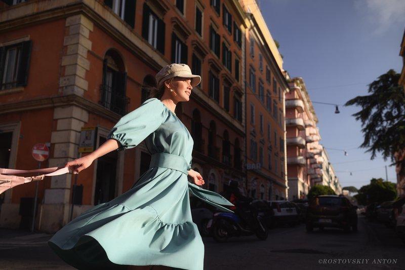 Италия, фототур, стрит, динамика, портрет, девушка, улица, Тёплый вечер в Италииphoto preview