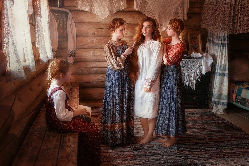 девушки, рыжие, рыжиы волосы, свадьба Свадьба на Русиphoto preview