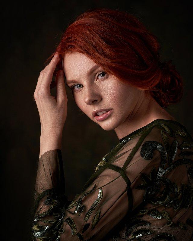 pyzhikphoto, портрет, классика, классический портрет, портрет девушки, женский портрет, portrait, classic, art, красавица, фото, девушка, кудри, винтаж Портрет Наташиphoto preview