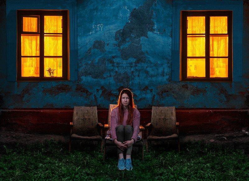 свет, вечер, цвет, закат, дом, стена, Диана.photo preview