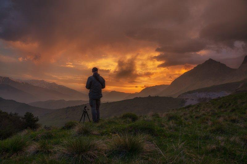 кавказ, ингушетия, заповедник, эрзи, закат, весна, май Вечер фотографа в горах Ингушетииphoto preview
