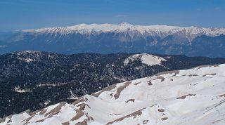 Вид с вершины Тахталы (Турецкий Олимпос 2365 м) на запад...