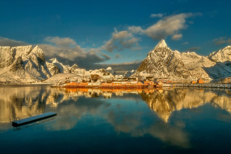 norway, sea, winter Lofoten Islands photo preview