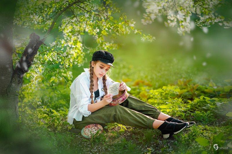 лето, во дворе, пацанка, девочка, фото мамы, письмо, весна Пацанка фото превью