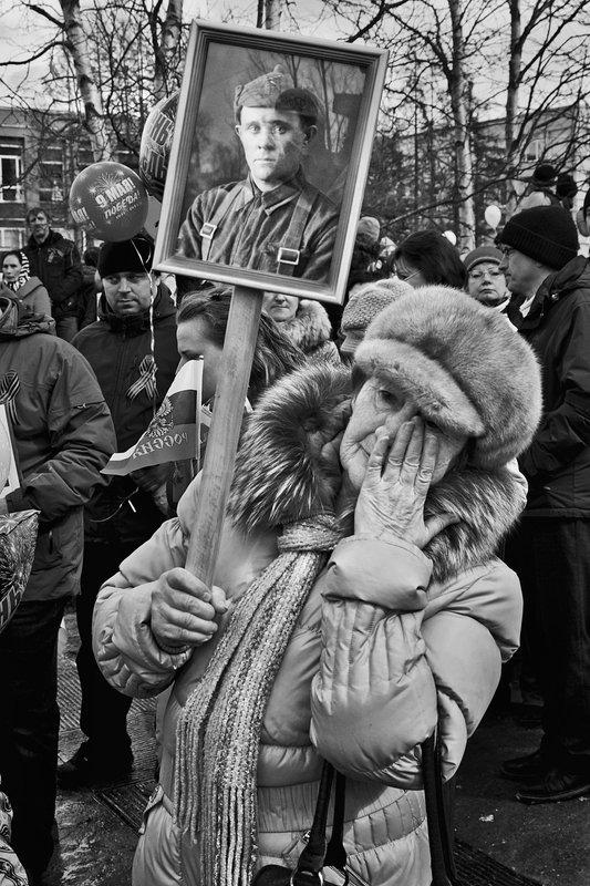 день победы, портрет, женщина, чб, апатиты Память о войне фото превью