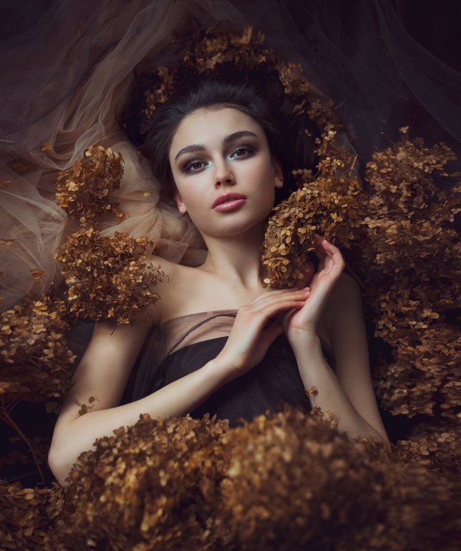 портрет, девушка, сухоцвет Анастасияphoto preview