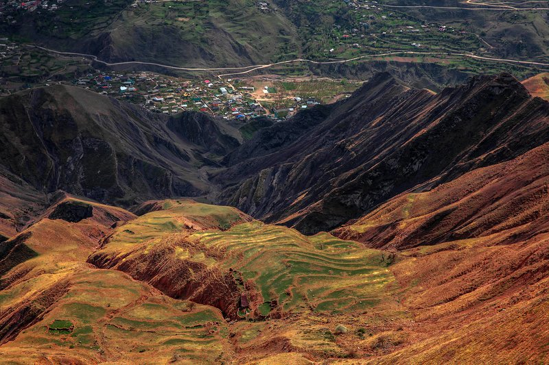 горы,пейзаж,горный пейзаж,весна,дагестан,северный кавказ,шамильский район. Горный ландшафт.. фото превью